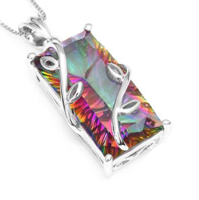 15.8 carat rectangular necklace