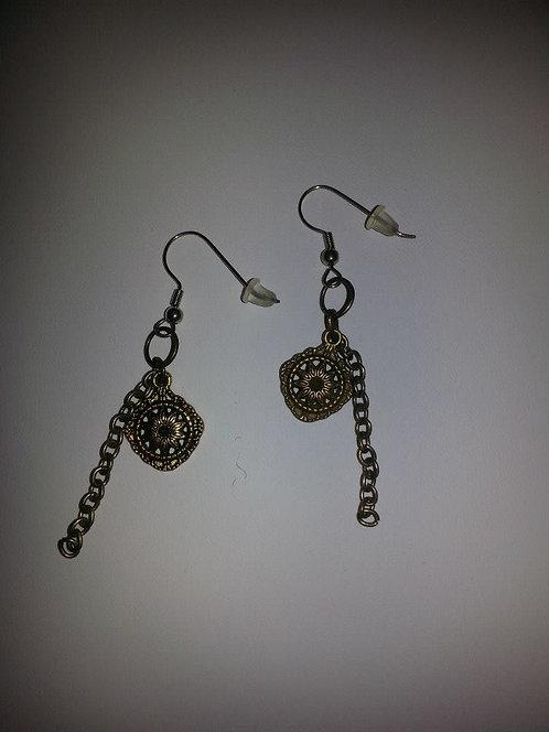 Bronze earrings ~ Tribal