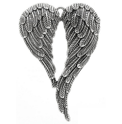 Silver Heart Wings Heaven Love Necklace