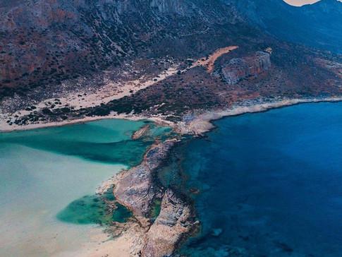 Balos Beach aerial photo