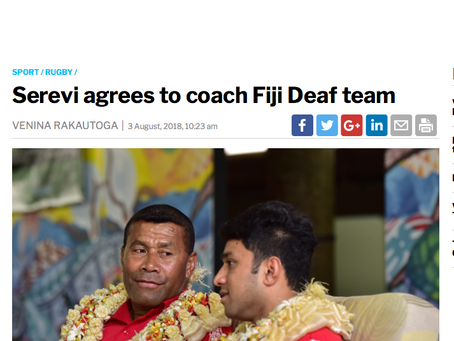 Serevi to coach the Fiji Deaf Barbarians 7's Squad