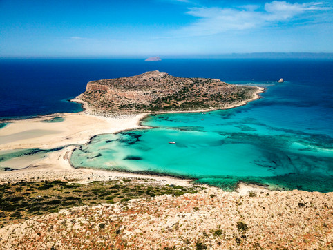Aerial view of Balos Beach