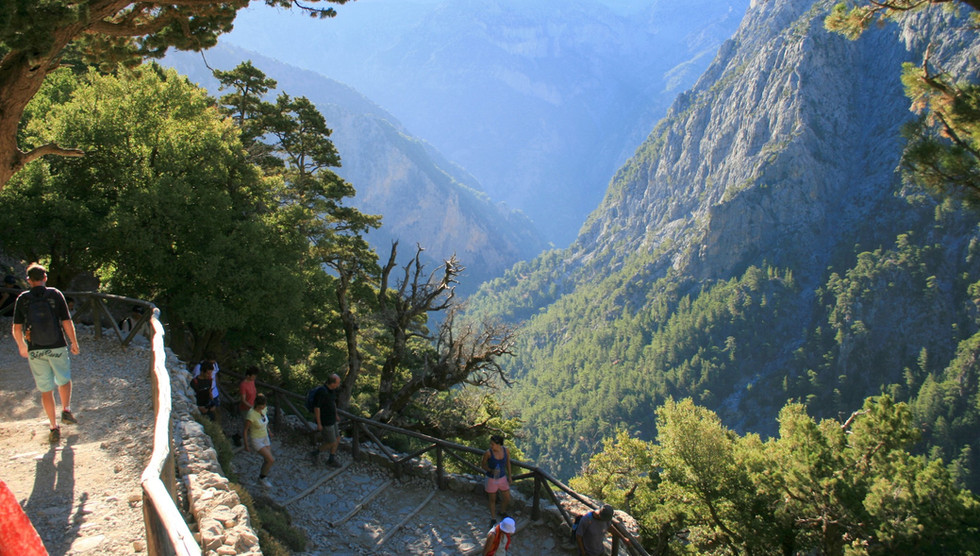 Samaria Gorge from Xyloskalo