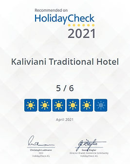 Certificate of Excellence HolidayCheck 2