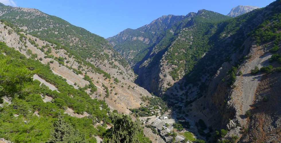 Exit of Samaria gorge by Agia Roumeli