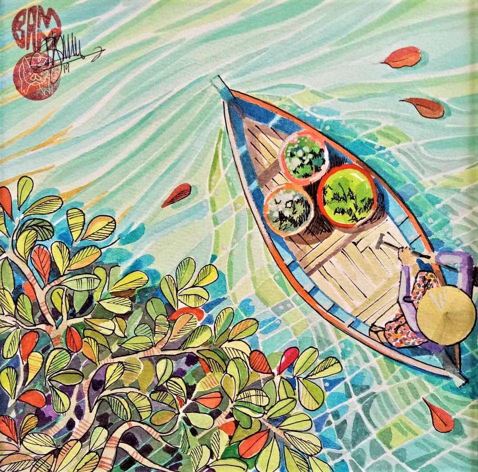 Sea almond leaves