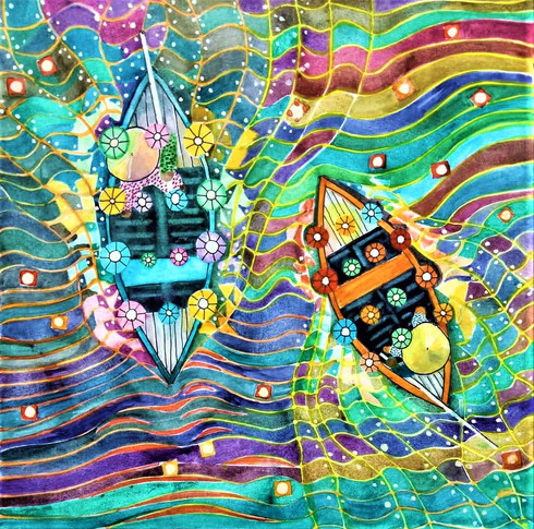 Fairy lantern boats of Hoi An