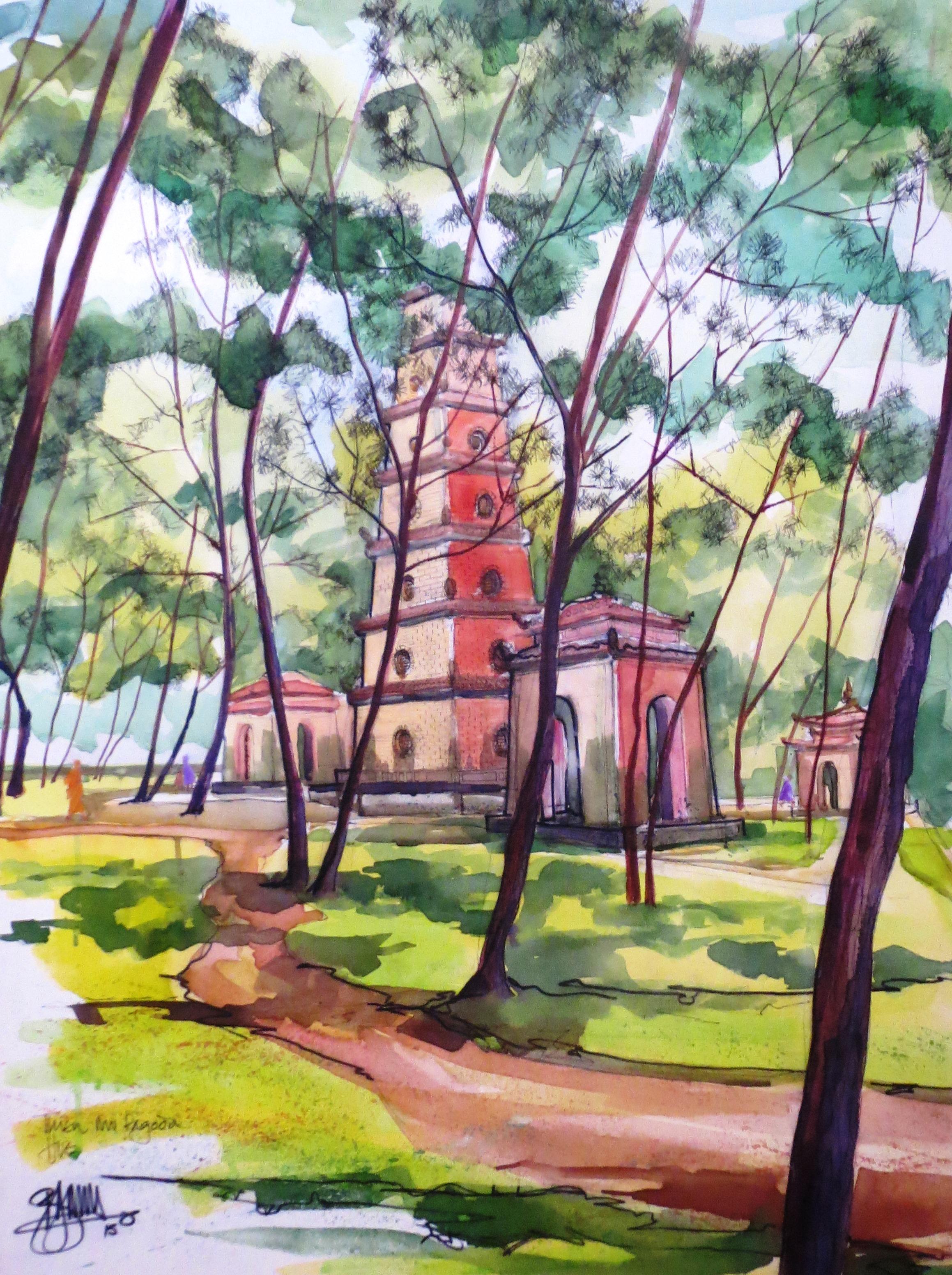 Pagoda garden
