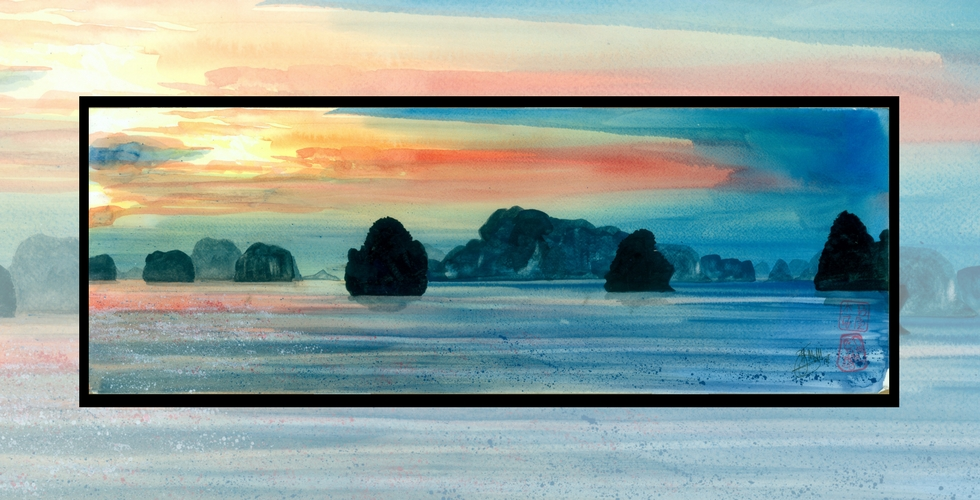 Ha Long Sunset