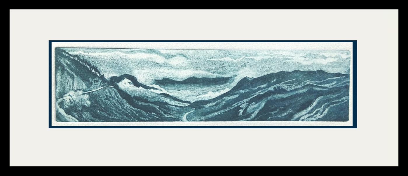 Of mists and mountains - etching