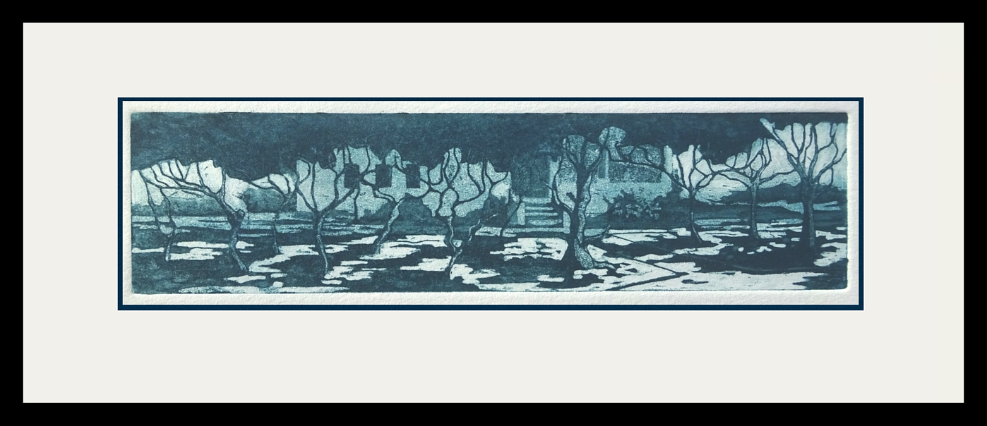 The Garden- etching by Bridget March