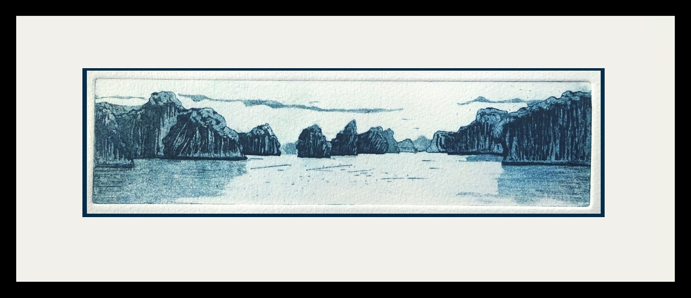 Ha Long Bay - etching