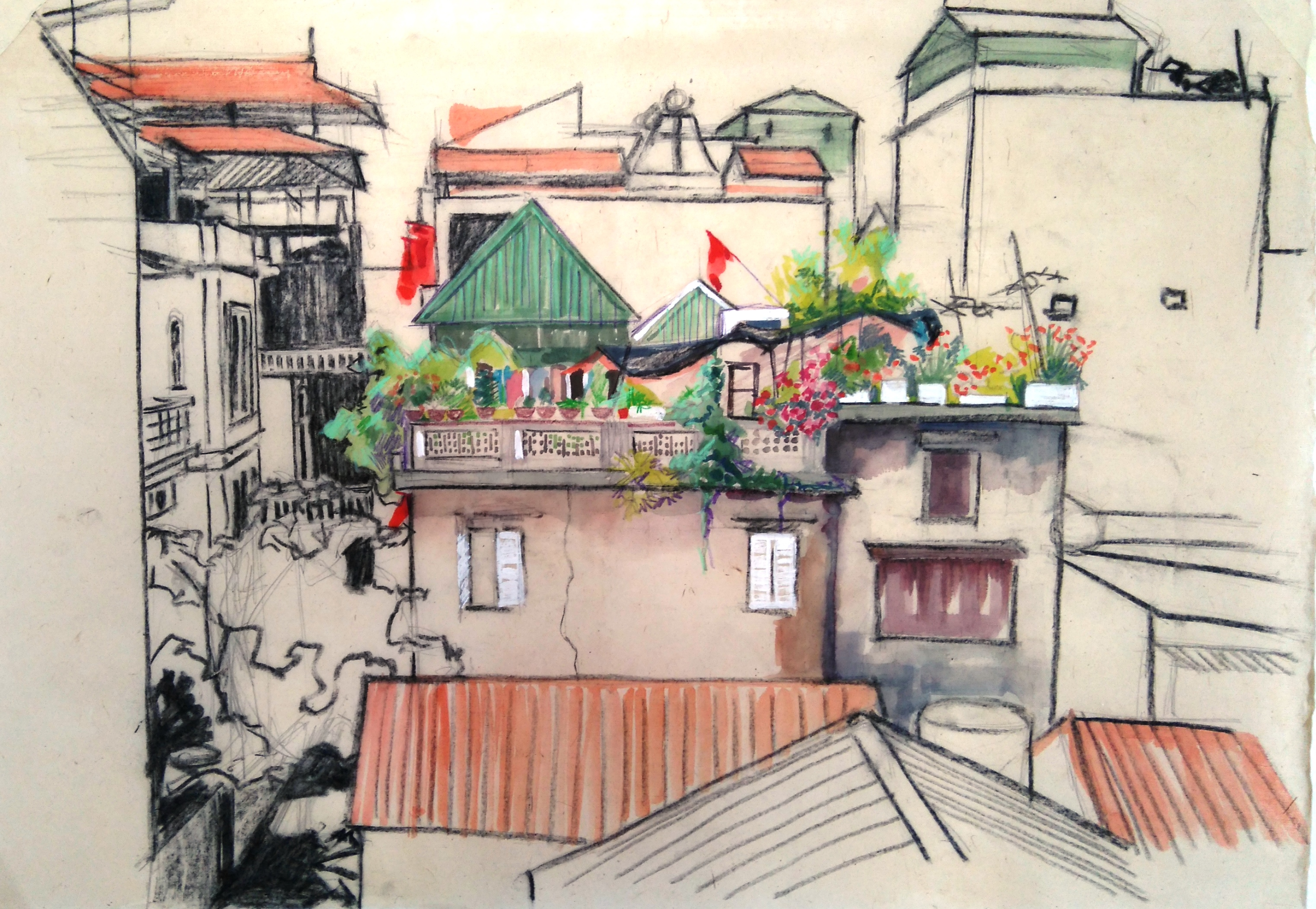 From my studio window - Hanoi