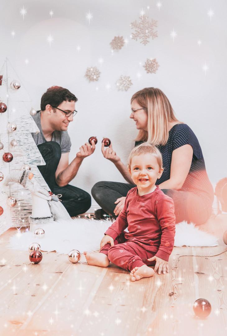 Weihnachtsfeier mit Familie