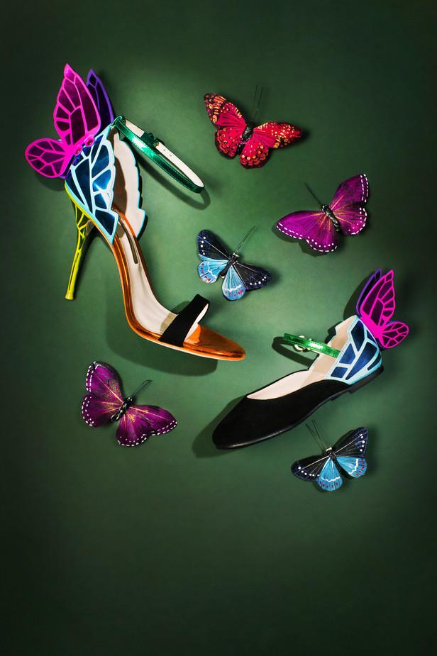 Sophia Webster butterfly shoes - Editorial still life