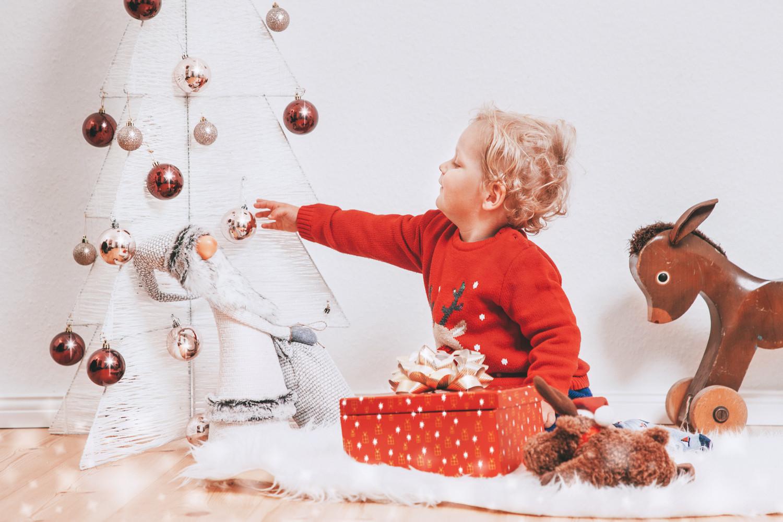 Kinder Weihnachtsfoto