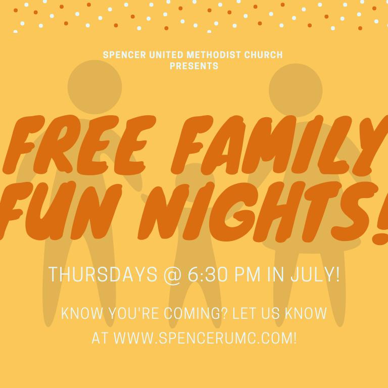 Free Family Fun Nights - TBD