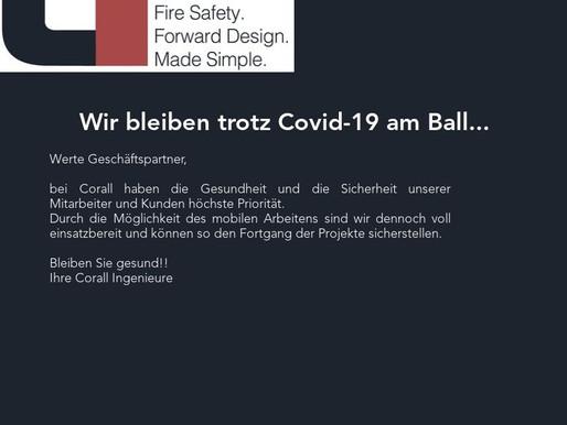 Wir bleiben trotz Covid-19 am Ball..