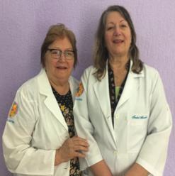 Malvina Spoltore Bertolini e Heloísa de Carvalho Antonio