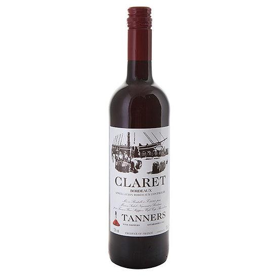 Tanners Claret, Bordeaux £22