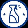 藍白色噴霧瓶