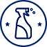 Blue on white spray bottle