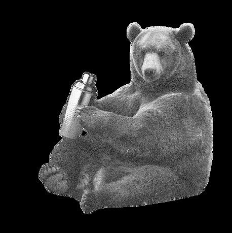 cocktail shaking bear