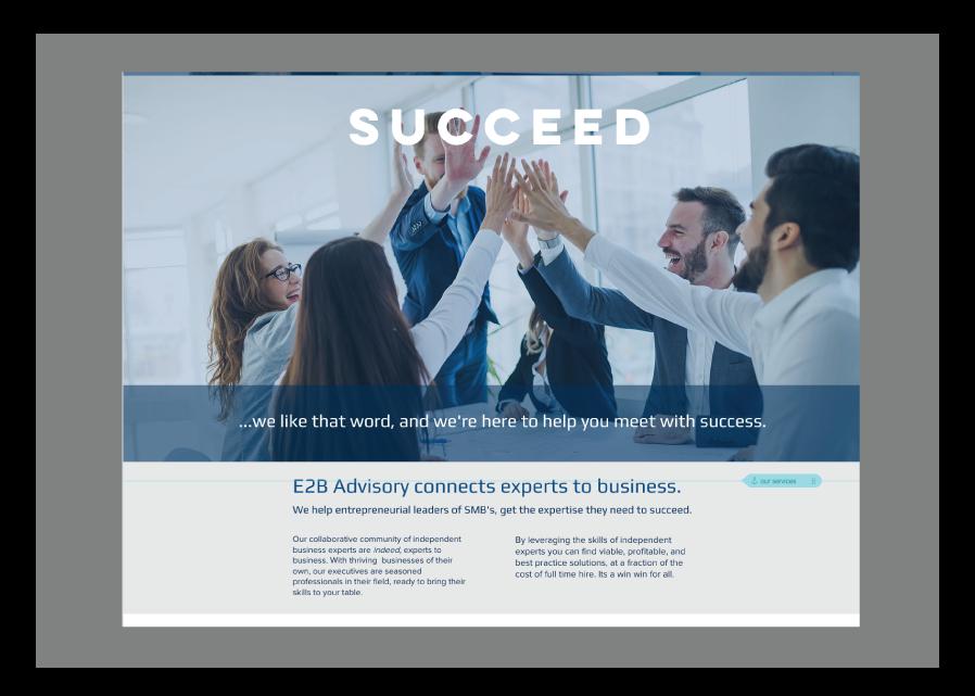 E2B website home page 3