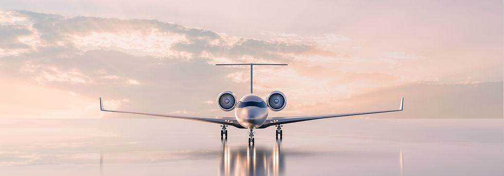 Luxury Jet on Tarmac