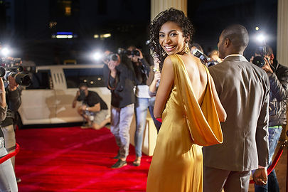 Woman at Red Carpet Event