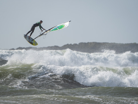 Windsurfers in Rhosneigr, Anglesey