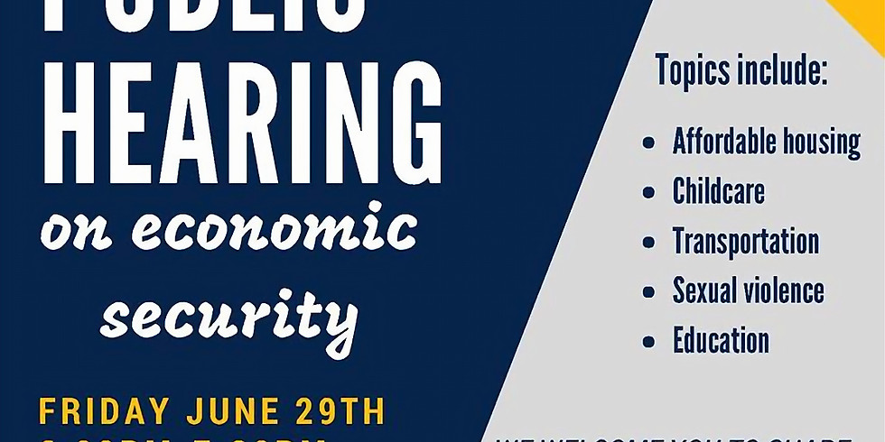 Public Hearing on Women's Economic Security