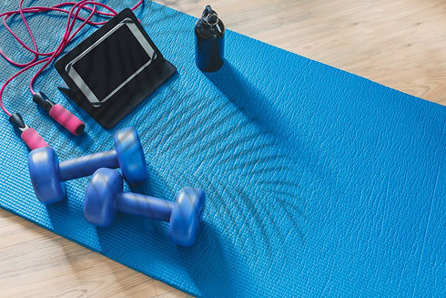 Fitness at home, remote training with vi