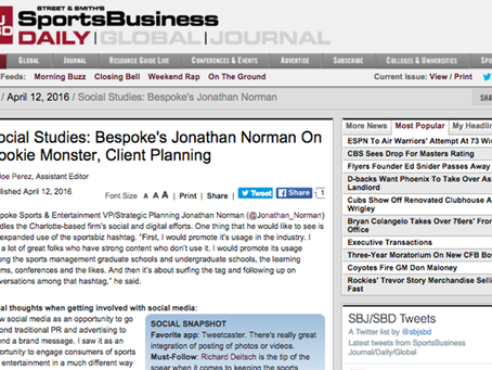 Bespoke's Norman Featured in SportsBusiness Daily