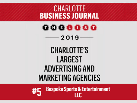 Bespoke Debuts at #5 on List of Largest Agencies in Charlotte