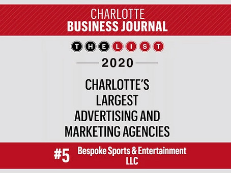 Bespoke Ranked in Annual Listing of Charlotte's Largest Marketing Agencies