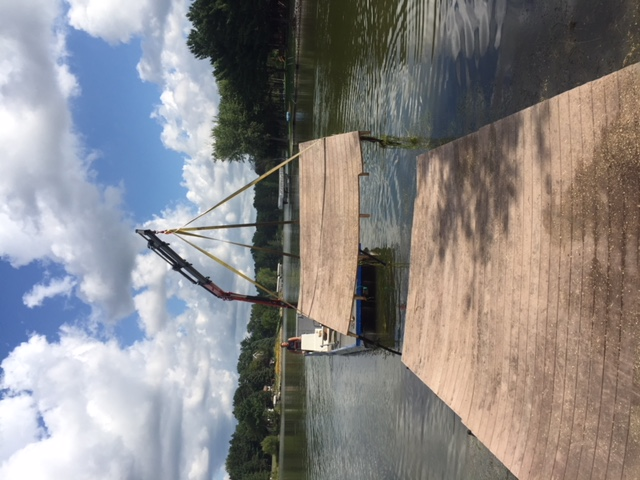 Removal of existing dock