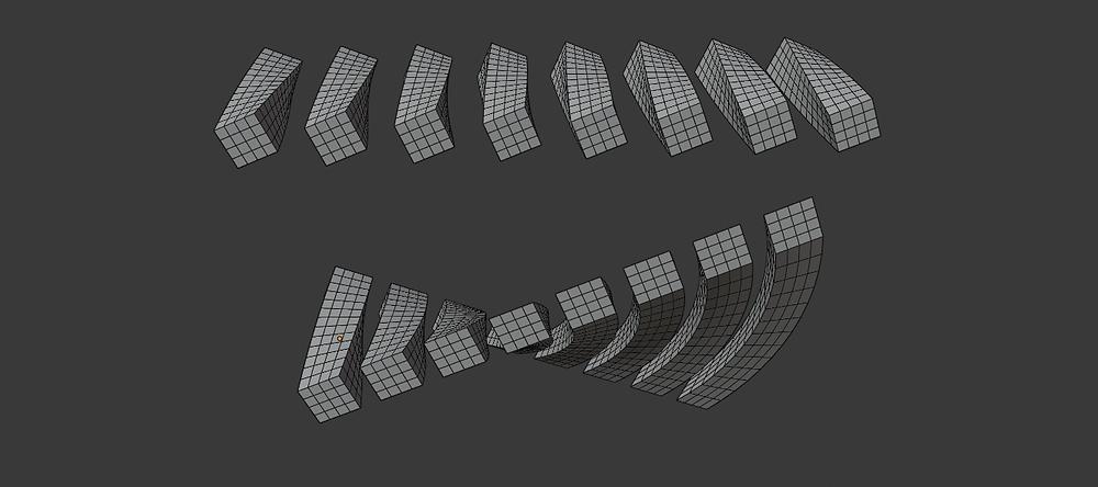modelado 3d, malla poligonal, blender, modificadores, simple deform, twist