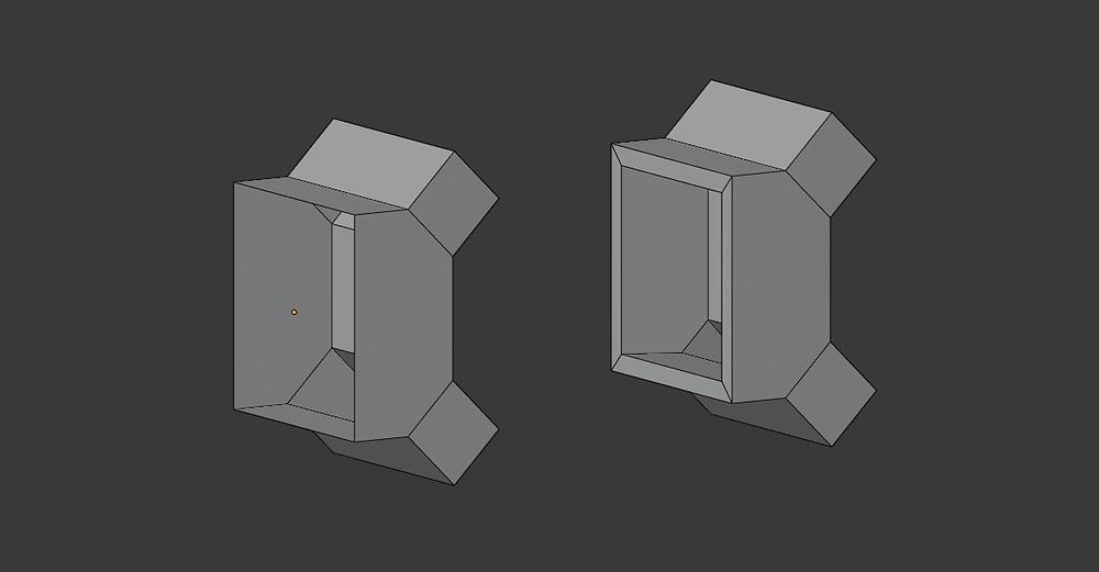 modelado 3d, malla poligonal, blender, modificadores, solidify