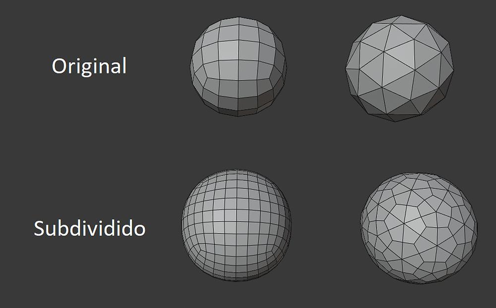 animación, subdivisión, modelado 3d, quads, ngons, malla poligonal