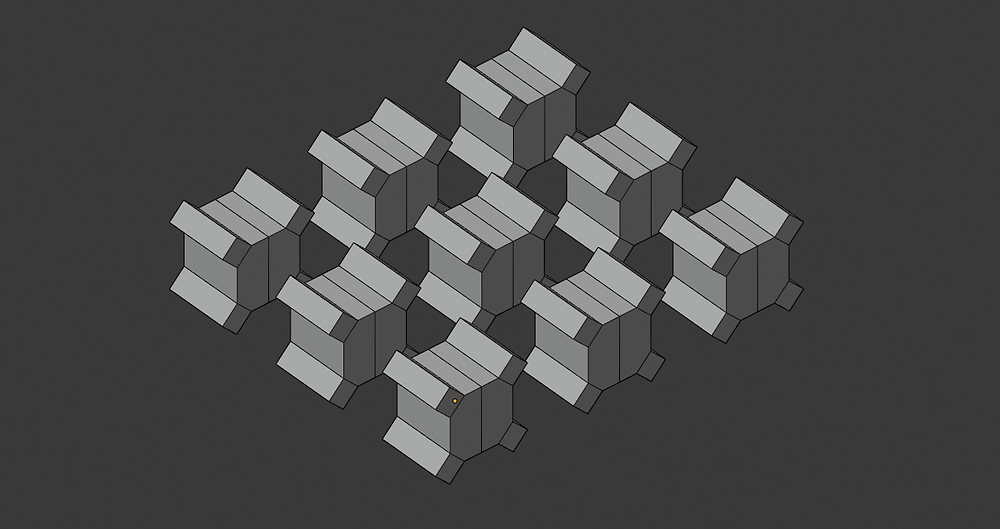 modelado 3d, malla poligonal, blender, modificadores, array