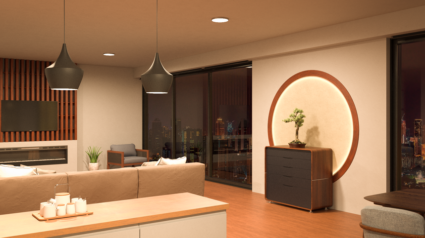 Apartamento asiático