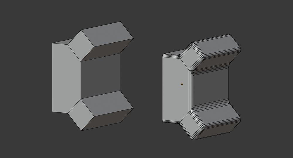 modelado 3d, malla poligonal, blender, modificadores, bevel