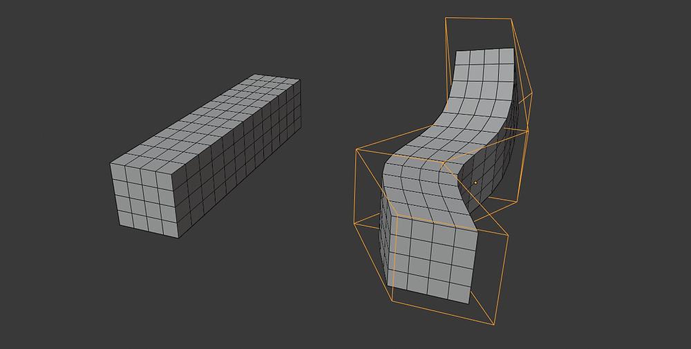modelado 3d, malla poligonal, blender, modificadores, lattice