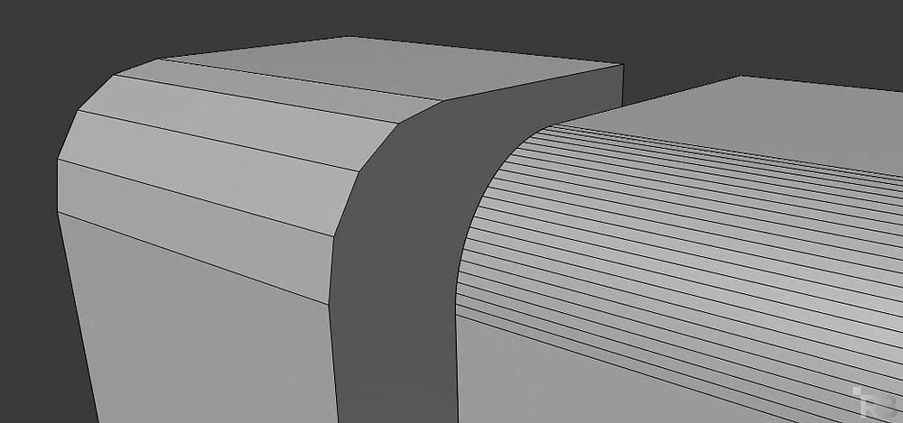 modelado 3d, blender, diseño 3d, malla poligonal, bevel, resolución de malla
