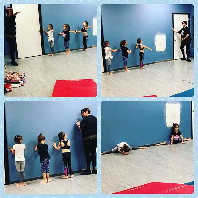 Our mini company working hard! #the716dancelab