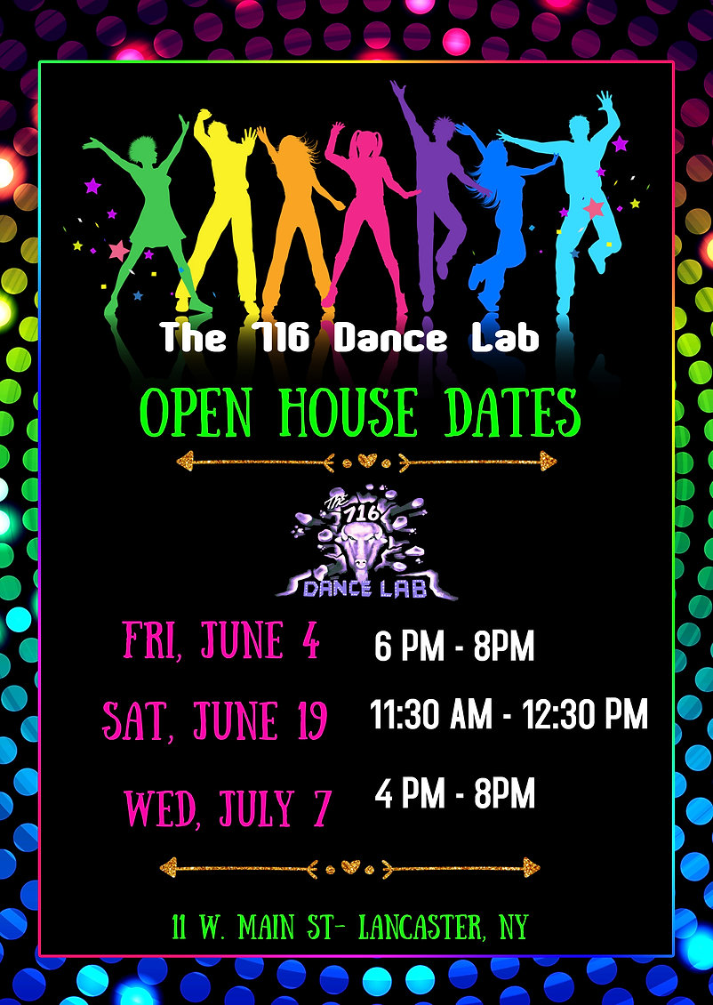Copy of Dance birthday party invitation
