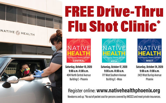 Native Health Drive Thru Flu Shot Clinic
