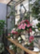 春 フラワーアレンジ ローズ パープル ピンク PRIMA池袋店