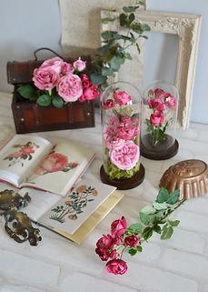 春 フラワーアレンジ ローズ パープル ピンク パンジー PRIMA